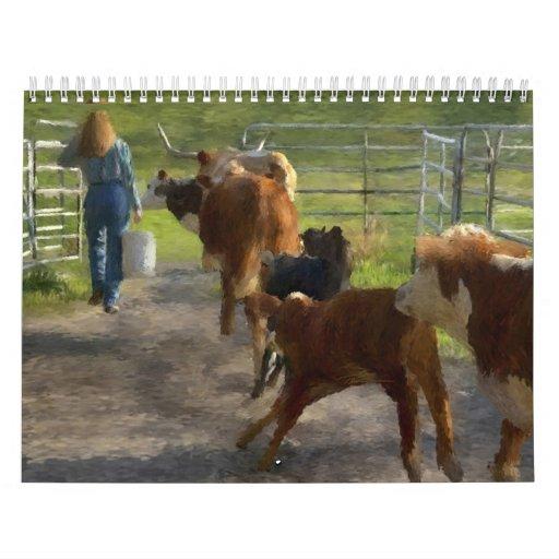 Scenics - Ranch Scenes Paintings Calendar