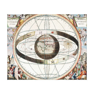 Scenography of the Ptolemaic Cosmography Canvas Print