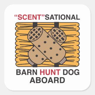 Scent-Sational Barn Hunt Dog Square Sticker