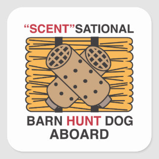 Scent-Sational Barn Hunt Dog Square Stickers