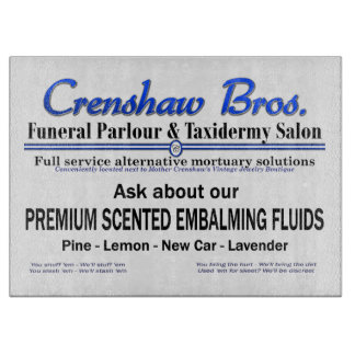 Scented Embalming Fluids Cutting Board