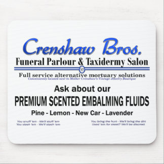 Scented Embalming Fluids Mousepad