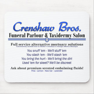 Scented Embalming Fluids Mousepads