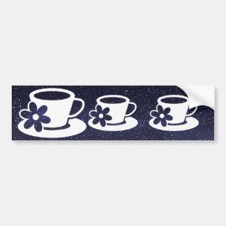 Scents Cups Symbol Car Bumper Sticker
