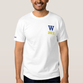Sch0ol Shirt Embroidered, Year, Sport, Initials