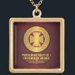 """SCH -Proud Descendant Gold Finish Necklace<br><div class=""""desc"""">Southern Cross of Honor -Proud Descendant</div>"""