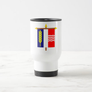 Schaan Armorial Banner on Crossbar 15 Oz Stainless Steel Travel Mug