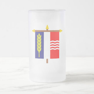 Schaan Armorial Banner on Crossbar 16 Oz Frosted Glass Beer Mug