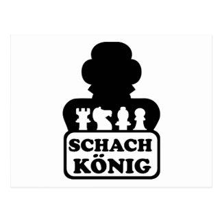 Schach König Tarjetas Postales