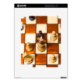 Schachbrett mit Dame im Vordergrund Skin For The iPad 2