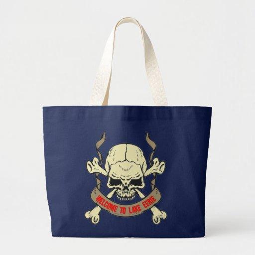 Schädel skull welcome to lake eerie tragetasche