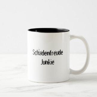 Schadenfreude Junkie Two-Tone Coffee Mug