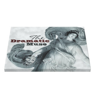 Schadow The Dramatic Muse CC0395 Canvas Stretched Canvas Print