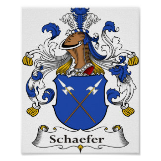 """Schaefer Coat of Arms 8""""x10"""" Poster"""