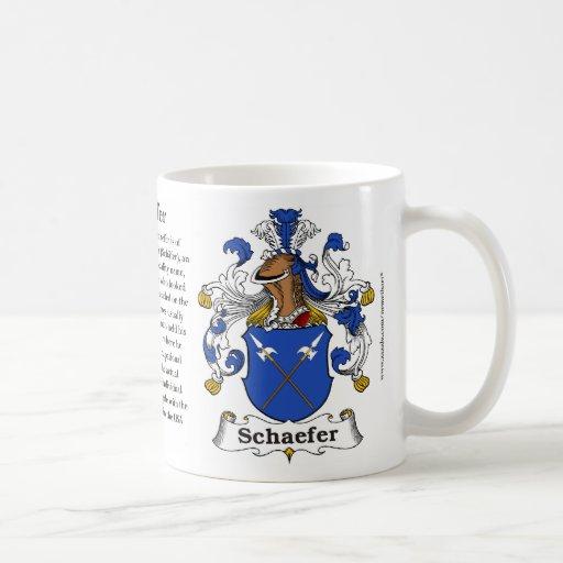 schaefer family coat of arms mug