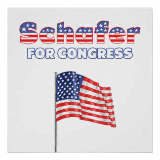 Schafer for Congress Patriotic American Flag Poster