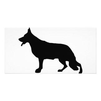 Schäferhund-Hundeschwarzes Tarjetas Fotograficas Personalizadas