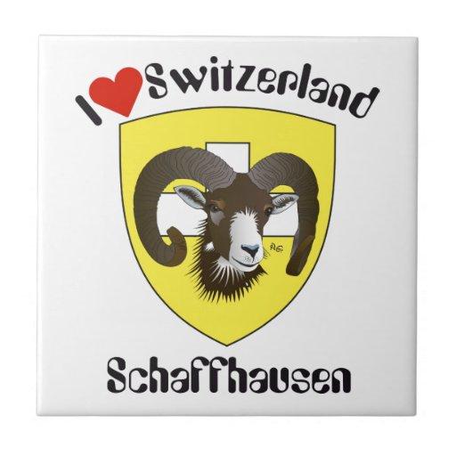 Schaffhausen Suiza Suisse Svizzera Svizra baldosa Azulejo Cuadrado Pequeño