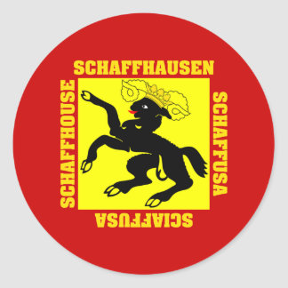 Schaffhausen Switzerland Canton Flag Classic Round Sticker