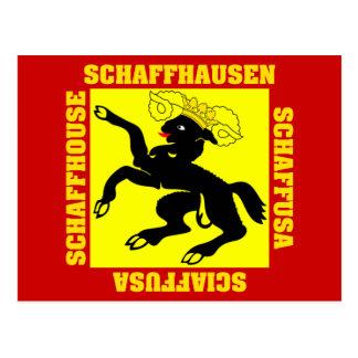 Schaffhausen Switzerland Canton Flag Postcard