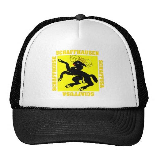 Schaffhausen Switzerland Canton Flag Trucker Hat