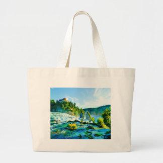 schaffhausen waterfall water sky rock bag