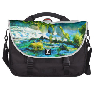 schaffhausen waterfall water sky rock bag for laptop