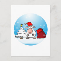 Schafsweihnacht Postcard