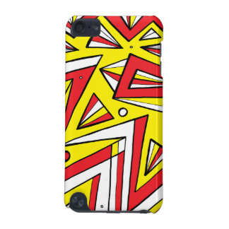 Schartz Abstract Expression Yellow Red Black iPod Touch (5th Generation) Case