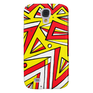 Schartz Abstract Expression Yellow Red Black Galaxy S4 Case