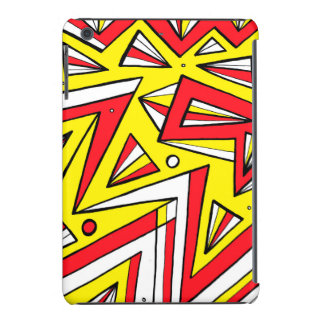 Schartz Abstract Expression Yellow Red Black iPad Mini Cases