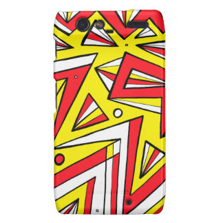 Schartz Abstract Expression Yellow Red Black Droid RAZR Cover