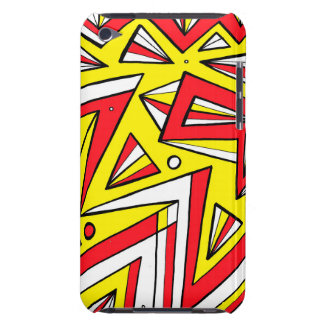 Schartz Abstract Expression Yellow Red Black Barely There iPod Covers