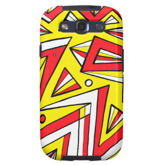 Schartz Abstract Expression Yellow Red Black Samsung Galaxy SIII Case