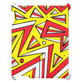Schartz Abstract Expression Yellow Red Black Cover For The iPad