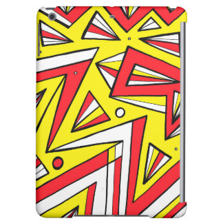 Schartz Abstract Expression Yellow Red Black Case For iPad Air