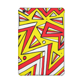 Schartz Abstract Expression Yellow Red Black iPad Mini Case
