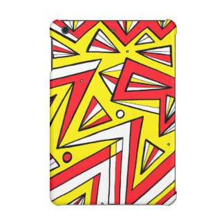 Schartz Abstract Expression Yellow Red Black iPad Mini Retina Covers