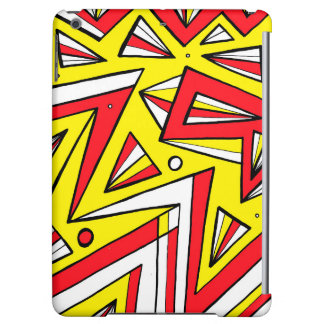 Schartz Abstract Expression Yellow Red Black iPad Air Case