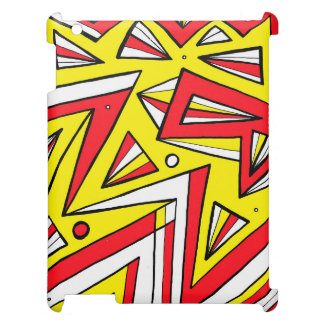 Schartz Abstract Expression Yellow Red Black Cover For The iPad 2 3 4
