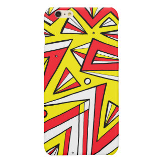 Schartz Abstract Expression Yellow Red Black Glossy iPhone 6 Plus Case