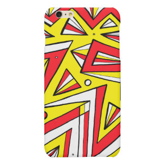 Schartz Abstract Expression Yellow Red Black Matte iPhone 6 Plus Case