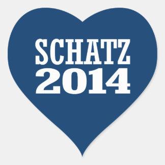 SCHATZ 2014 HEART STICKER