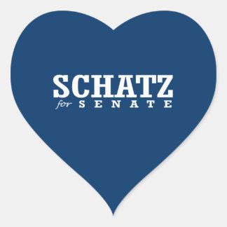 SCHATZ FOR SENATE 2014 HEART STICKERS