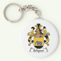 Schauer Family Crest Keychain