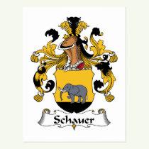 Schauer Family Crest Postcard