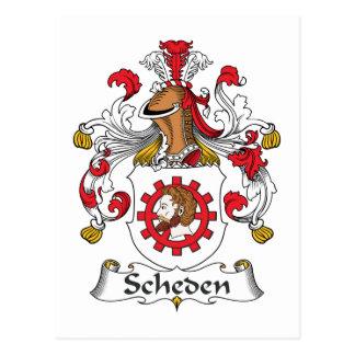 Scheden Family Crest Postcard