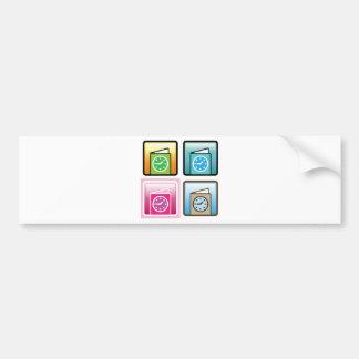 Schedule Icon Bumper Sticker