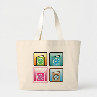 Schedule Icon Large Tote Bag
