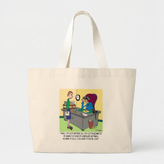 Scheduled Happiness Minute Large Tote Bag